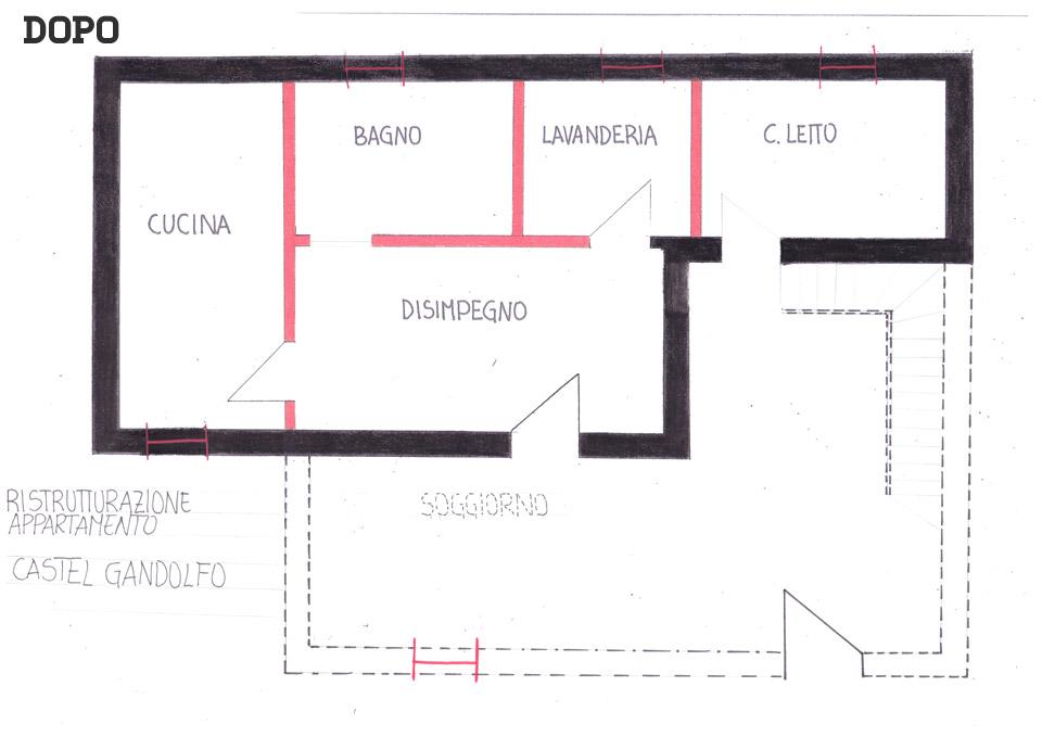 Ristrutturazione bagno a Castel Gandolfo